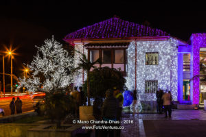 Bogota, Colombia in South America - Christmas lights