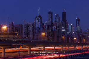 Dubai, UAE - Marina Towers at Night