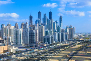 Dubai, UAE - Towers on the Marina and Construction.