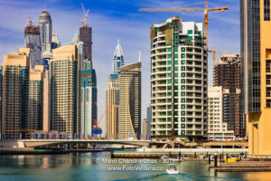 Marina and Modern Waterfront Skyscrapers.