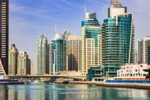 Dubai, UAE - Luxurious Marina and Modern Waterfront Skyscrapers.