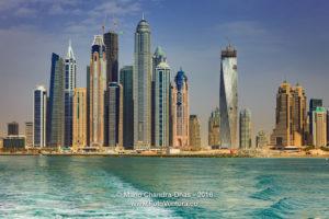 Dubai, UAE - Marina Towers, Off-shore View