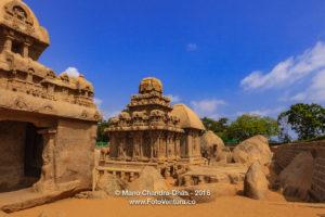 Mahabalipuram, India: 1300 Year Old Pancha Rathas, sculpted in Granite