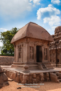 Mahabalipuram, India: 7th Century Draupadi Ratha, part of Pancha Rathas