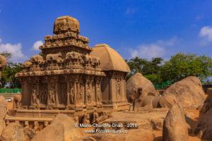 Mahabalipuram, India: 7th Century Arjuna Ratha, sculpted in Granite.