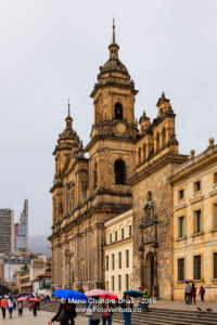 Bogota, Colombia: Catedral Primada on Plaza Bolovar, Spanish Colonial Architecture