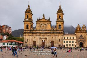 Bogota, Colombia - Plaza Bolivar Classical Spanish Colonial Architecture