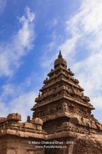 Mahabalipuram, India - Gopuram of 1300 Year Old Shore Temple