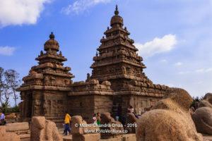 Mahabalipuram, India - Tourists at 8th Century Shore Temple.