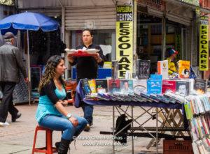 Bogota, Colombia - Street vendor on Calle 16