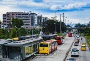 Bogota, Colombia - Avenida El Dorado to the Airport
