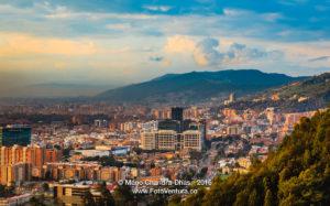 Bogota, Colombia - Barrio de Usaquen viewed from La Calera