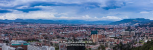 Bogota, Colombia - Panoramic view of city from La Calera