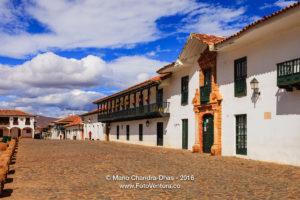 Colombia: 16th Century Town of Villa de Leyva. Main Plaza
