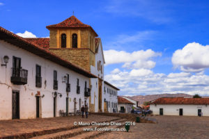 Villa de Leyva, Colombia - Church on the Main Square.