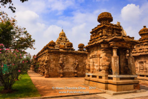 Kanchipuram, India - Kailasanathar Temple, Outer Wall and shrine