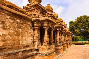Kanchipuram, India - Kailasanathar Temple, Outer Wall