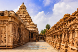 Kanchipuram, India - 1300 year old Hindu Temple, Circumambulatory Passage.