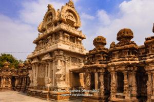 Kanchipuram, India - 1300 year old Kailasanathar Hindu Temple