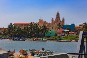 Kanyakumari, South India - Fishing boats Moored in Cove