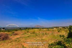 Kanyakumari, South India - New Mannakudi Bridge and Hills