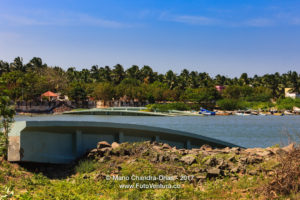 Kanyakumari India - Mannakudi Bridge destroyed by 2004 Tsunami