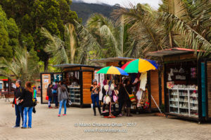 Colombia - Tourists and Souvenir Shops at Zipaquira