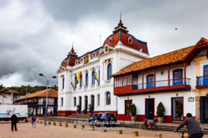 Colombia - colonial Zipaquira Town Hall on main square