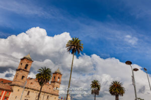Colombia - Andean Skies in Zipaquira town, from Main Square