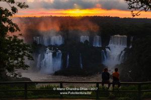 Iguacu, Brazil - Tourists Watch Sunset Over the Falls © Mano Chandra Dhas