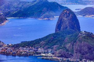 Rio de Janeiro, Brazil: Looking at Sugar Loaf from Corcovado © Mano Chandra Dhas