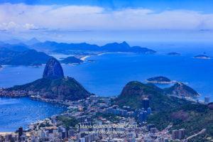 Rio de Janeiro, Brazil: Looking towards Sugar Loaf from Corcovado © Mano Chandra Dhas