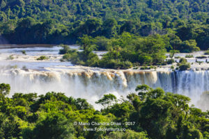 Close-up Devil's Throat at Iguassu Falls between Brazil and Argentina © Mano Chandra Dhas