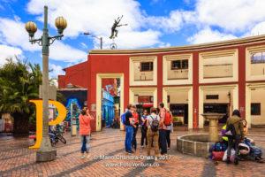 Bogota, Colombia - Visitors on Plaza del Chorro de Quevedo in La Candelaria ©Mano Chandra Dhas