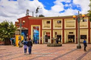 Bogota, Colombia - Local Tourists on Plaza del Chorro de Queued in La Candelaria ©Mano Chandra Dhas