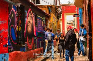 Calle del Embudo, Bogotá, Colombia ©Mano Chandra Dhas