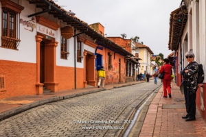 Bogotá Colombia - Local Colombian people in La Candelaria on a National Holiday ©Mano Chandra Dhas