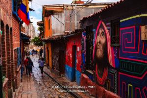 Calle del Embudo, Bogotá, Colombia © Mano Chandra Dhas