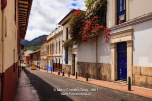 Bogotá Colombia - Spanish Colonial Architecture and Colourful Walls in La Candelaria ©Mano Chandra Dhas