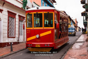 Bogotá Colombia - A Tourist Bus, modelled on the Old Tram in La Candelaria ©Mano Chandra Dhas