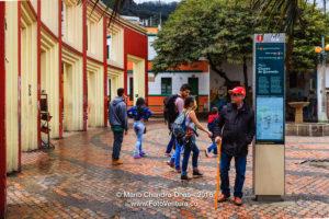 Bogota, Colombia - Tourists on Plaza del Chorro de Quevedo in La Candelaria ©Mano Chandra Dhas