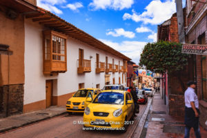 Bogotá Colombia - Spanish Colonial Architecture and Traffic in La Candelaria ©Mano Chandra Dhas