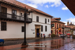 Bogotá Colombia - Looking across Calle 11 in La Candelaria towards Casa de Moneda ©Mano Chandra Dhas