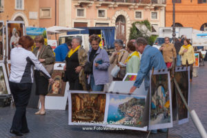 Rome, Italy - Paintings for sale on Piazza Navona © Mano Chandra Dhas