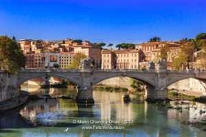 Rome, Itlay - The Ponte Vittorio Emanuele II over the River Tiber © Mano Chandra Dhas