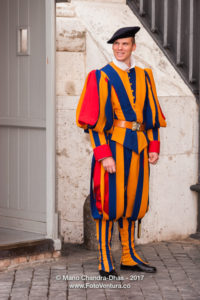 Vatican City - Swiss Guard. © Mano chandra Dhas