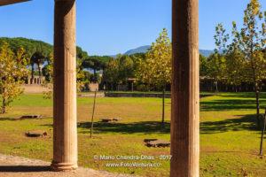 Pompeii, Italy - View of Vesuvius from ancient villa. © Mano Chandra Dhas