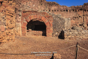 Pompeii, Italy: Ruins of city destroyed by Vesuvius eruption. © Mano Chandra Dhas