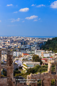 Athens, Greece: Looking across the ruined facade of Odeon Herodes Atticus © Mano Chandra Dhas