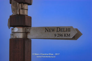 Cape Point, South Africa - Sign indicating Distance and Direction © Mano Chandra Dhas